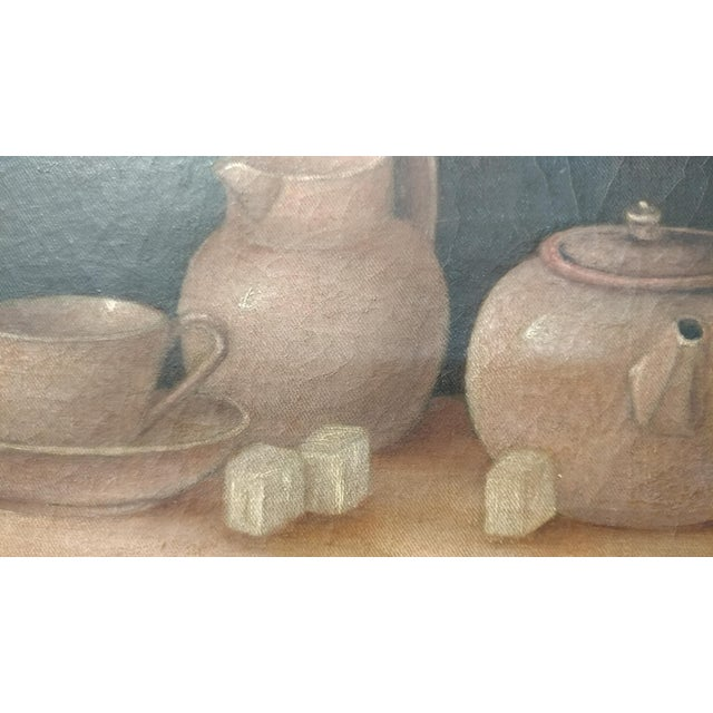 Th Century Painting Of Tea Room