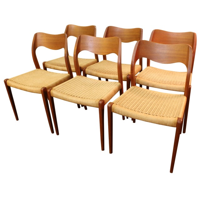 Moller Model 71 Teak Dining Chairs - Set of 6 - Image 1 of 11