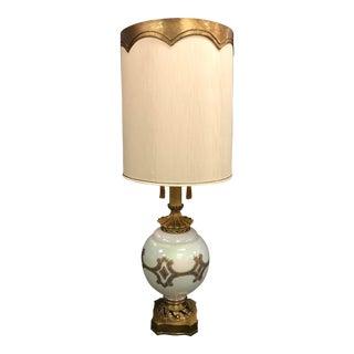Regency Opal Glass Ornate Lamp
