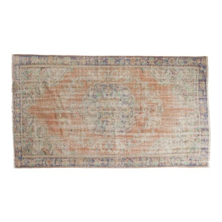 "Vintage Distressed Oushak Carpet - 4'9"" x 8'1"""