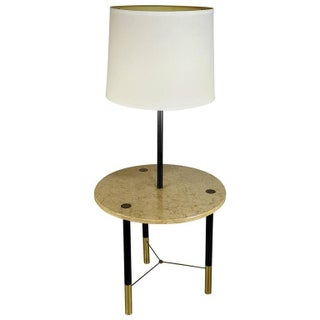 Rare Harvey Probber Marble and Brass Lamp Table, 1960s