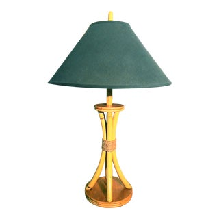 Vintage Mid-Century Bamboo Table Lamp
