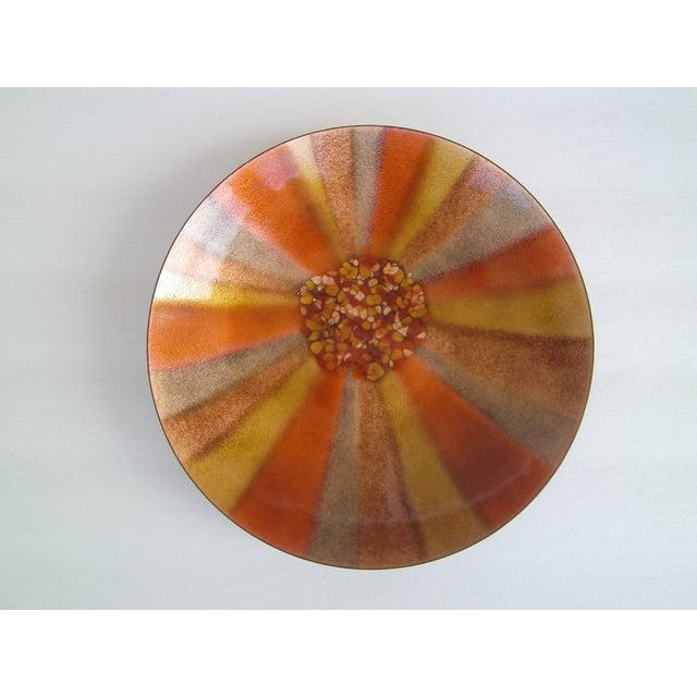 Mid-Century Copper Enamel Bowl/ Bovano - Image 2 of 5