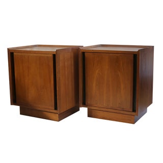 Dillingham Mid-Century Walnut Nightstands - A Pair