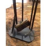 Image of Vintage Modern Black Metal Fireplace Tool Set