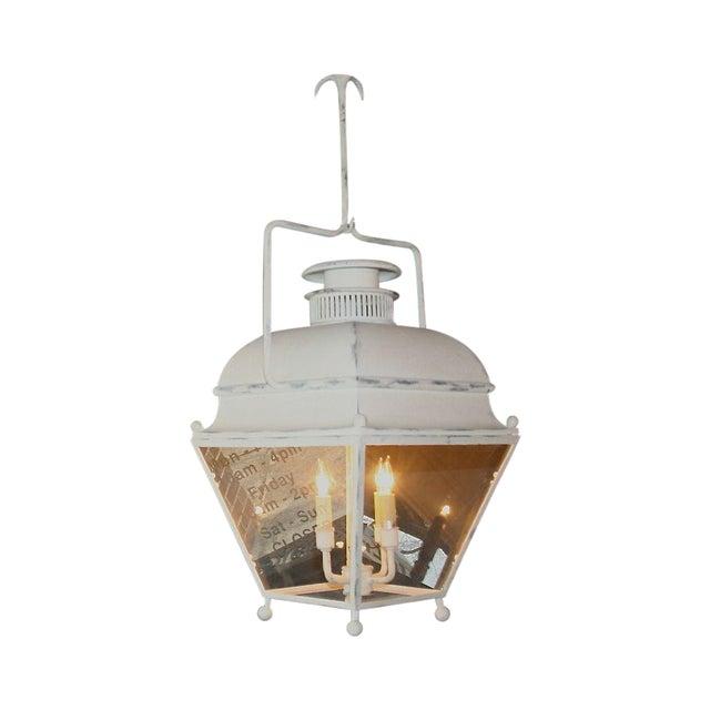 Large White Colonial Lantern - Image 1 of 7