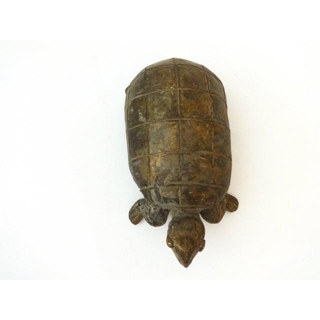 Bronze African Ashanti Akan Sculpture - Turtle - Image 8 of 8