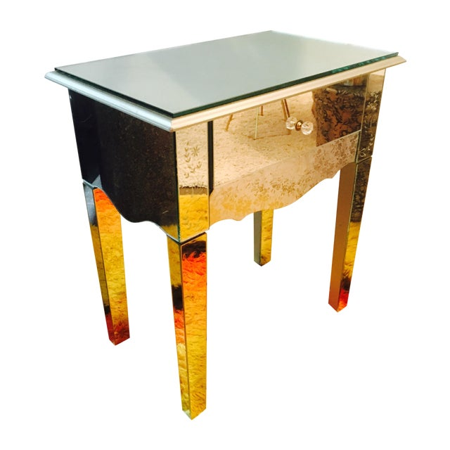 Mirrored side table or night stand chairish for Night stand cost