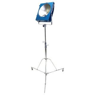 Movie Studio Mini Pan Floor Lamp With Stand. Circa Mid-20th Century Working Original.