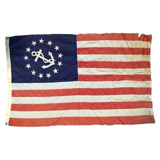 Vintage USA Maritime Yacht Ensign Boat Flag