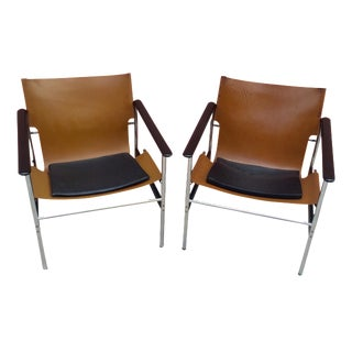 Charles Pollock for Knoll Lounge Chairs - A Pair
