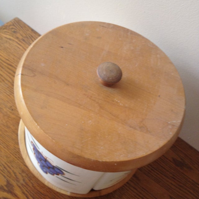 Vintage Purinton Pottery Canister Lazy Susan - Image 6 of 9