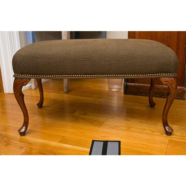 Antique French-Style Walnut Bench - Image 4 of 7