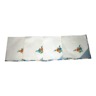 Vintage Cotton Napkins - Set of 4