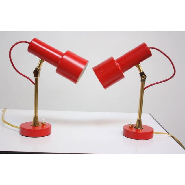 Pair of Mid-Century Italian Modern Petite Table Lamps / Sconces by Stilux - Image 5 of 11