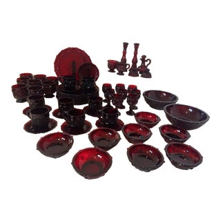 Avon 1876 Cape Cod Ruby Red Dinnerware Collection