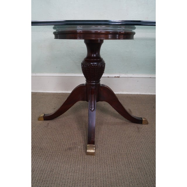 Glass Coffee Table Philippines: Maitland Smith Glass & Mahogany Duncan Phyfe Dining Table