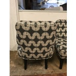 Image of Vintage Mid-Century Slipper Chairs - A Pair