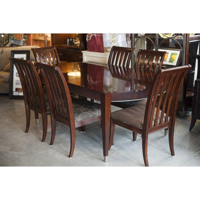 Ethan Allen Dark Mahogany Stained Dining Set - Image 2 of 8