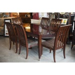 Image of Ethan Allen Dark Mahogany Stained Dining Set