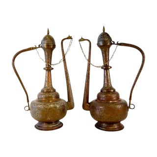 Large Moroccan Ewers - A Pair