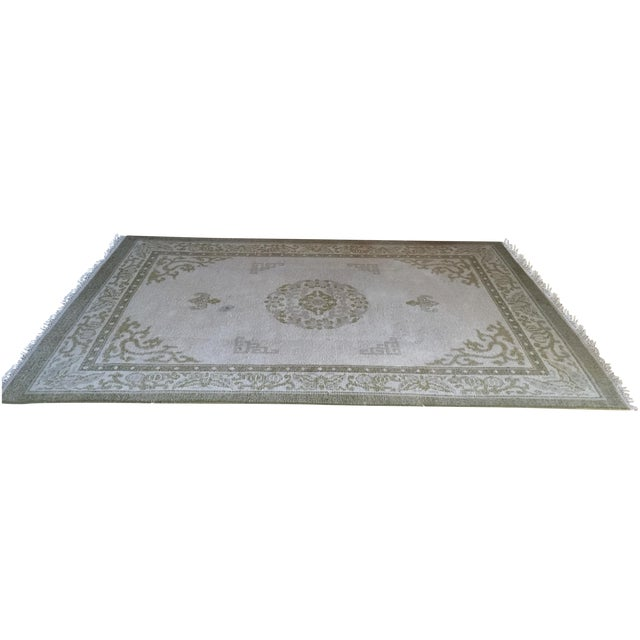 "Vintage Asian Area Rug - 5'11"" X 9'4"" - Image 1 of 5"