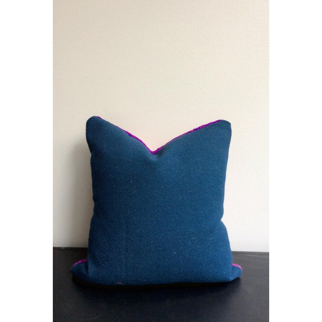 Purple & Pink Rug Pillows - A Pair - Image 3 of 3
