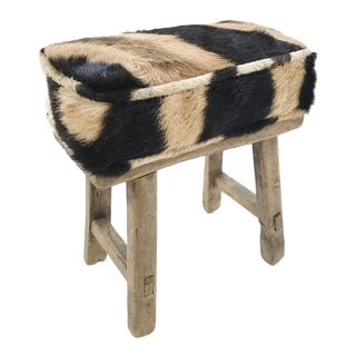 Forsyth Mini Bench with Zebra Hide Cushion