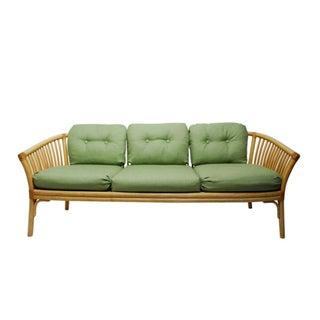 Vintage Rattan Sofa by Baker