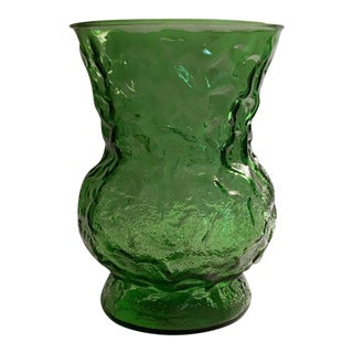 E.O. Brody Textured Glass Urn in Emerald