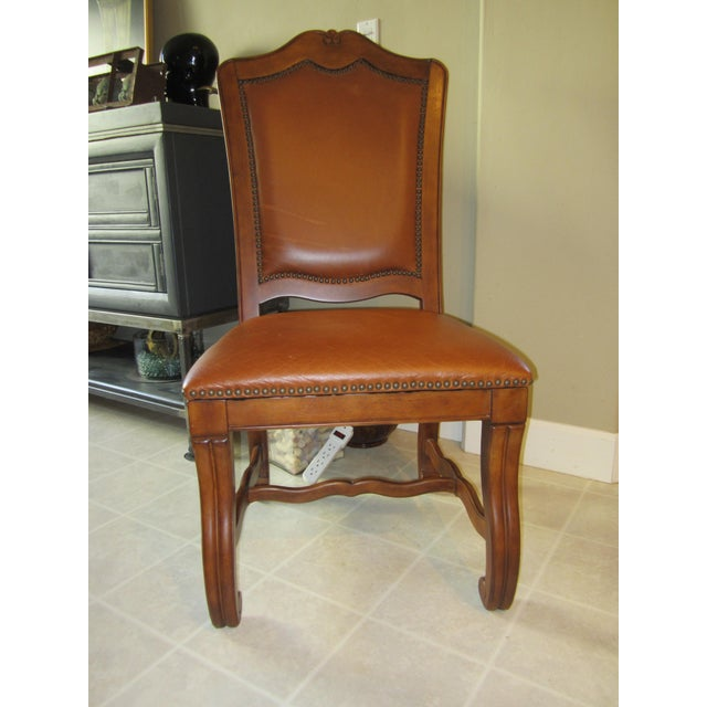 Stanley Leather Dining Chairs - Set of 6 - Image 10 of 11