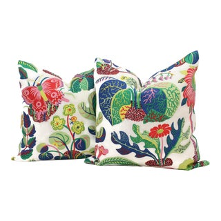 "20"" x 20"" Decorative Pillow Cover Exotic Butterfly in Spring"