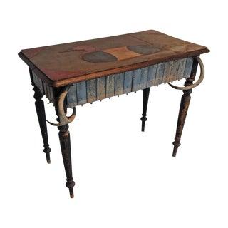 Folk Art Handmade Duck Table