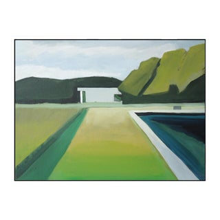 """Abstract Landscape Poolside"" Framed Giclée Print"