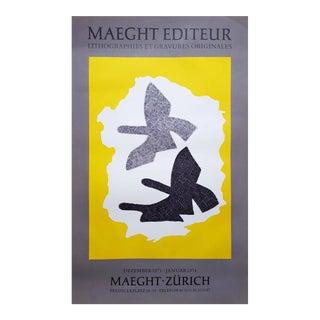 "Georges Braque ""Zurich"" Lithograph Poster"