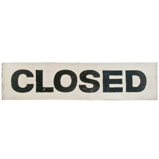 Image of Two-Sided Handpainted Wood Sign - Closed/Open
