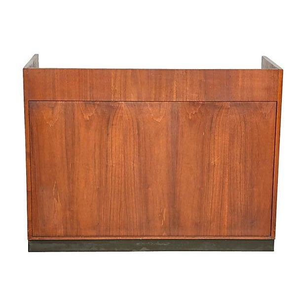 Image of 1960s Walnut & Black Laminate Bar