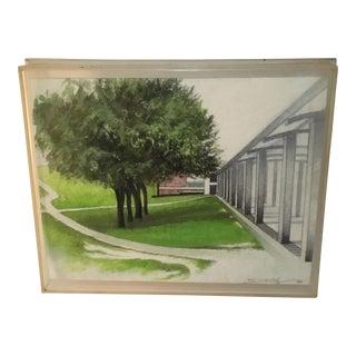 "Vintage Landscape in Plexi Box ""Skidmore, Saratoga"""