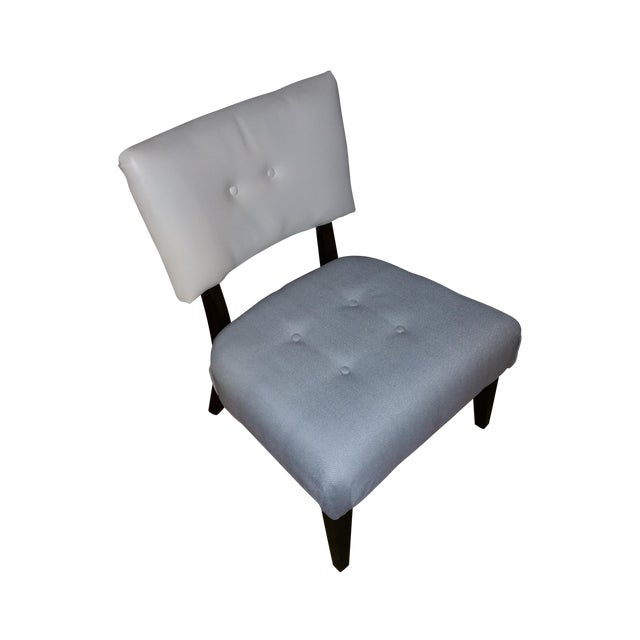 Image of Large Accent Chair, Grey and White Seat