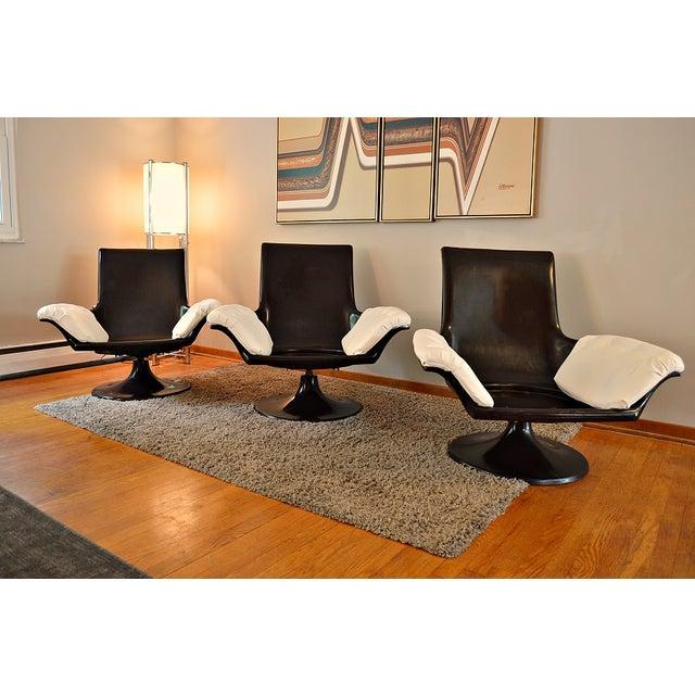 Decorian Swivel Tulip Base Chairs - Set of 3 - Image 10 of 11