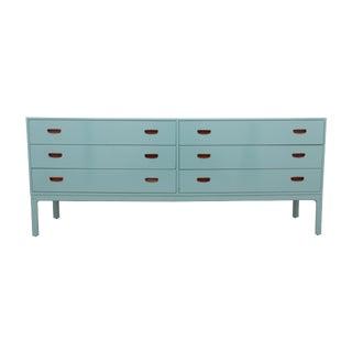 Danish Blue Midcentury Modern Dresser