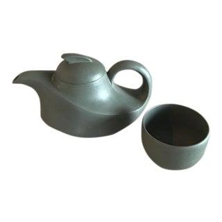Asian Modern Teapot & Cup