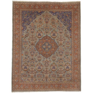 Antique Oriental Hand Knotted Rug- 9′2″ × 11′11″