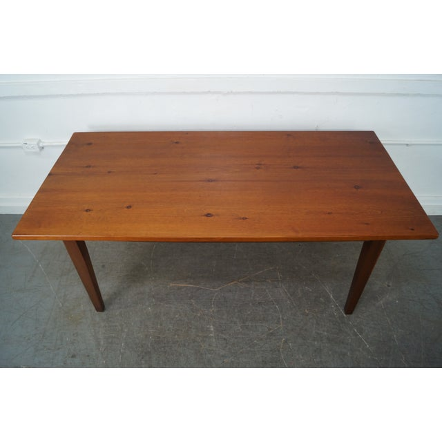 Custom pine farmhouse dining table chairish for Quality wood dining tables