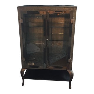 Restoration Hardware Burnished Steel Pharmacy Cabinet