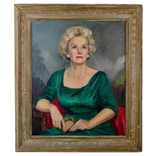 Mid-Century Portrait Painting - Mother of Cornelia Bowling Carrier Gibbs