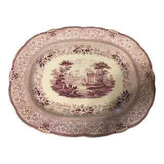 1835 Early Staffordshire Purple Platter