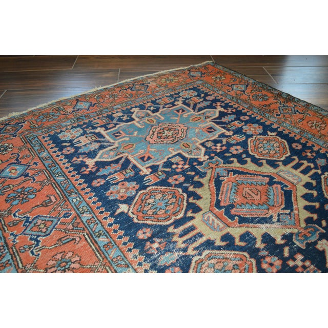 "Antique Persian Heriz Rug - 4'8"" X 6'2"" - Image 4 of 6"