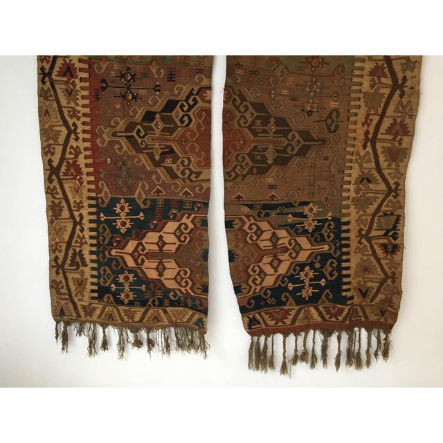 Wall Hanging Mounted Antique Anatolian Turkish Kilim Rugs