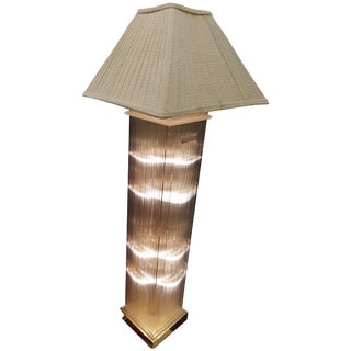 Gaetano Scolari Midcentury Glass Rod Floor Lamp